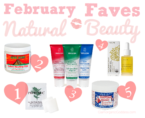 February Natural Organic Beauty Favorite Products