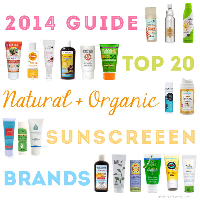 Best Natural Organic Sunscreen Brands 2014