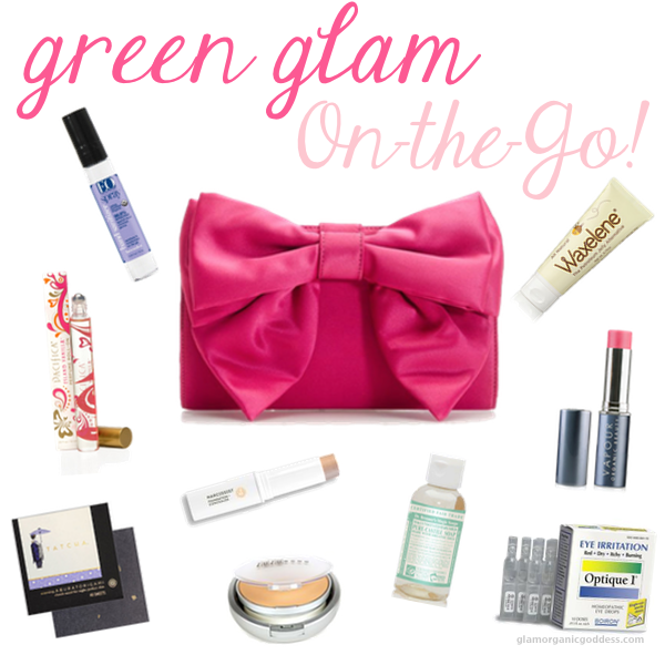 Green Glam On The Go Green Beauty Pretty Purse Essentials