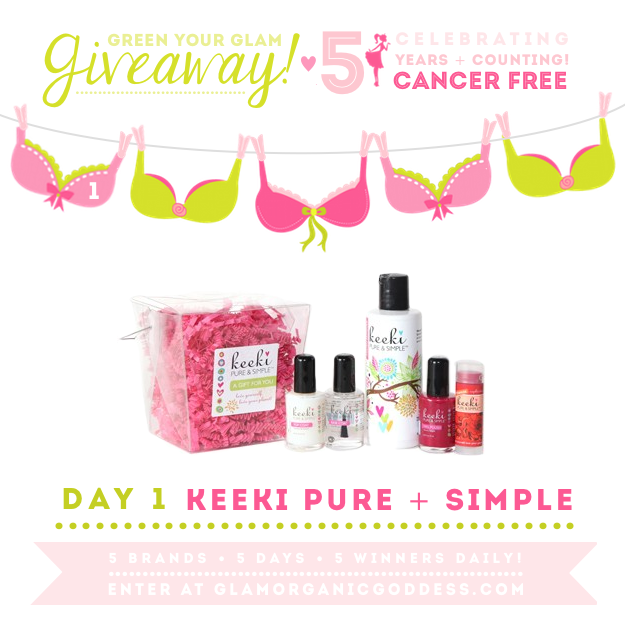 Green Your Glam Giveaway Breast Cancer Prevention Keeki Pure + Simple
