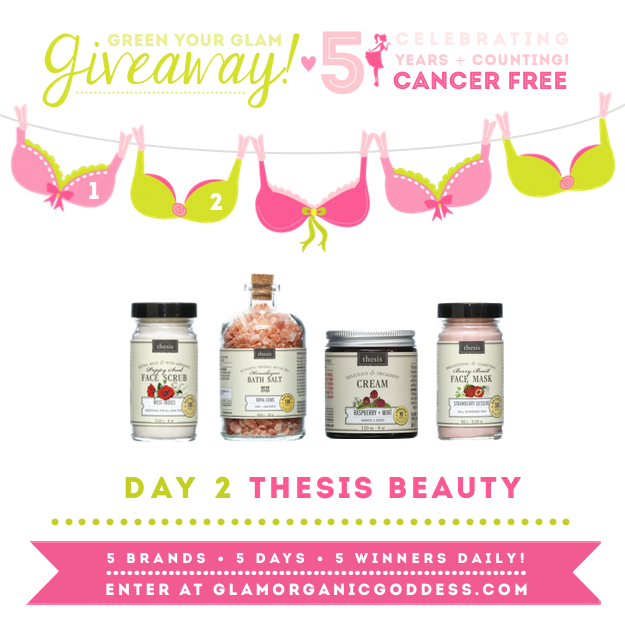 Green Your Glam Giveaway Breast Cancer Prevention Thesis Beauty