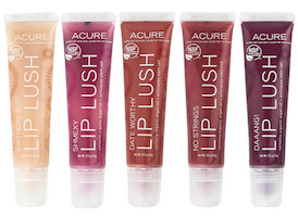 Complete Set of ALL 5 Lip Lushes: Birthday Suit, Daang, Date Worthy, No Strings, Shmexy