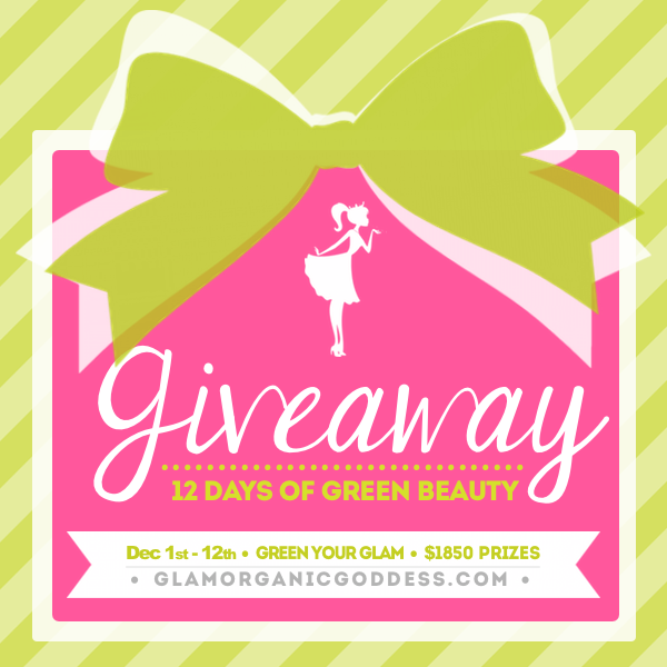 12 Days Green Beauty Giveaway Promo Pink Gift on Green
