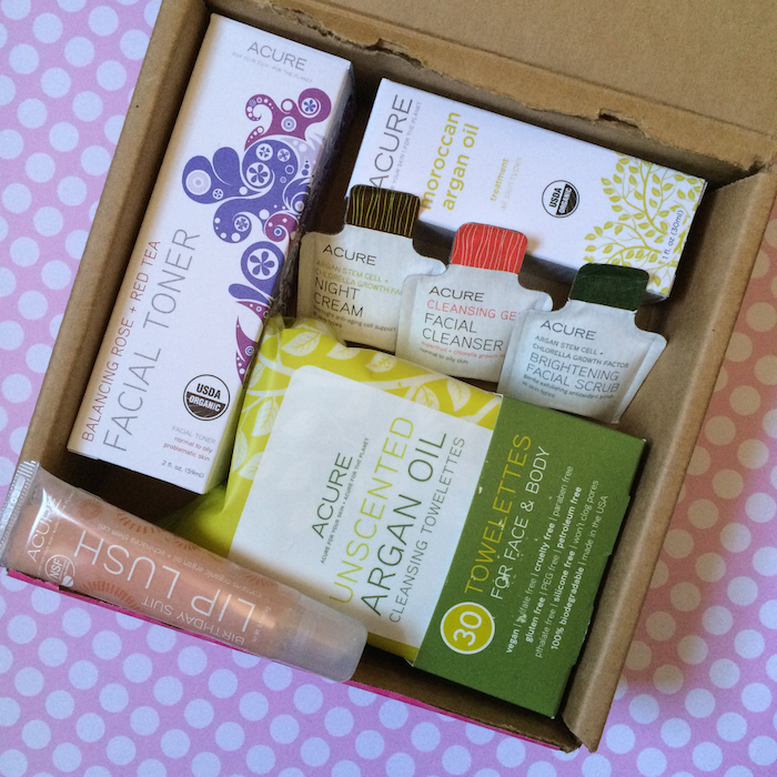 Acure Organics Glamoragnic Beauty Kit Inside Box