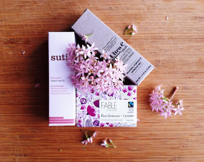 Eve Organics natural skin care shot - Suti, Fable, Little Alchemist